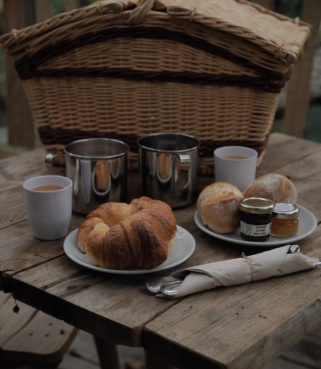 eat, jam, croissants and food